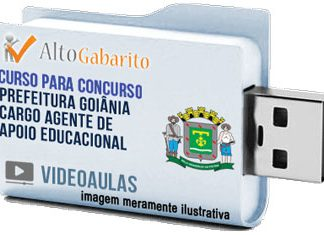 Curso Concurso Prefeitura Goiânia – Agente Apoio Educacional – Videoaulas Pendrive