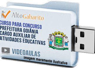 Curso Concurso Prefeitura Goiânia – Auxiliar Atividades Educativas – Videoaulas Pendrive