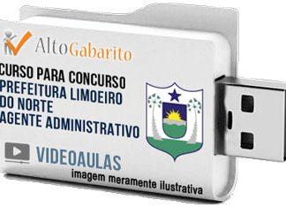 Curso Concurso Prefeitura Limoeiro Norte – Agente Administrativo – Videoaulas Pendrive