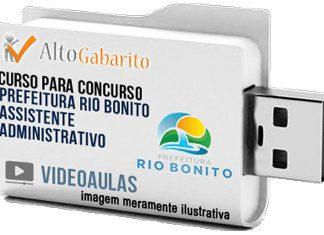 Curso Concurso Prefeitura Rio Bonito – Assistente Administrativo – Videoaulas Pendrive