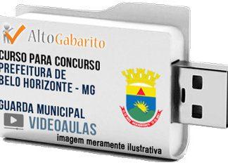 Curso Concurso Prefeitura Belo Horizonte – Guarda Municipal – Videoaulas Pendrive