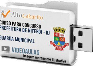 Curso Concurso Prefeitura Niterói – RJ – Guarda Municipal – Videoaulas Pendrive