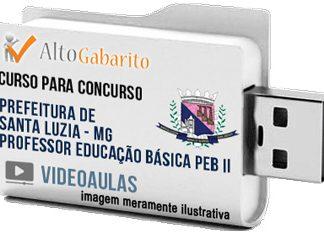 Curso Concurso Prefeitura Santa Luzia – MG – Professor PEB II – Videoaulas Pendrive