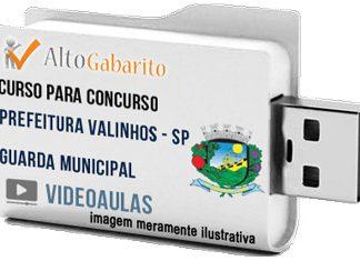Curso Concurso Prefeitura Valinhos – SP – Guarda Municipal – Videoaulas Pendrive