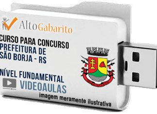 Curso Concurso Prefeitura São Borja – RS – Nível Fundamental – Videoaulas Pendrive