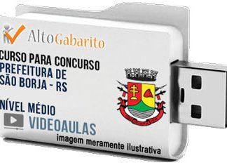 Curso Concurso Prefeitura São Borja – RS – Nível Médio – Videoaulas Pendrive