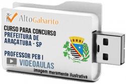 Curso Concurso Prefeitura Araçatuba – SP – Professor PEB I – Videoaulas Pendrive