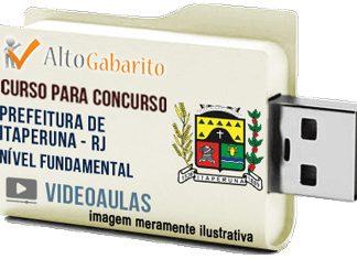 Curso Concurso Prefeitura Itaperuna – RJ – Nível Fundamental – Videoaulas Pendrive