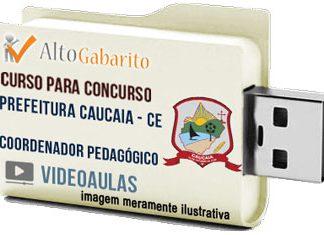 Curso Concurso Prefeitura Caucaia – CE – Coordenador Pedagógico – Videoaulas Pendrive