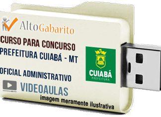 Curso Concurso Prefeitura Cuiabá – MT – Oficial Administrativo – Videoaulas Pendrive