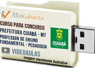 Curso Concurso Prefeitura Cuiabá – MT – Professor Pedagogia – Videoaulas Pendrive