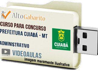 Curso Concurso Prefeitura Cuiabá – MT – Administrativo – Videoaulas Pendrive