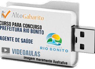 Curso Concurso Prefeitura Rio Bonito – Agente de Saúde – Videoaulas Pendrive
