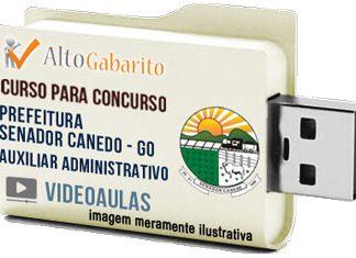 Curso Concurso Prefeitura Senador Canedo – GO – Auxiliar Administrativo – Videoaulas Pendrive
