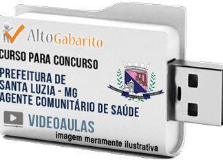 Curso Concurso Prefeitura Santa Luzia – MG – Agente Saúde – Videoaulas Pendrive