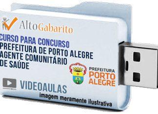 Curso Concurso Prefeitura Porto Alegre – Agente Saúde – Videoaulas Pendrive