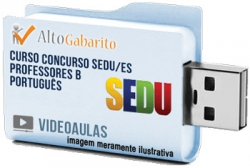 Curso Concurso SEDU – ES – Professor B Português – Videoaulas Pendrive