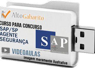 Curso Concurso SAP – SP – Agente Segurança – Videoaulas Pendrive