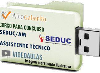 Curso Concurso SEDUC – AM – Assistente Técnico – Videoaulas Pendrive