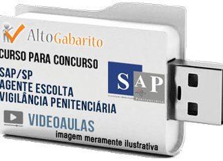 Curso Concurso SAP – SP – Agente Escolta Vigilância Penitenciária – Videoaulas Pendrive