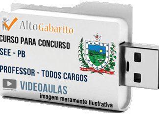 Curso Concurso SEE – PB – Professor Todos Cargos – Videoaulas Pendrive