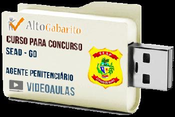 Curso Concurso SEAD – GO – Agente Penitenciário – Videoaulas Pendrive