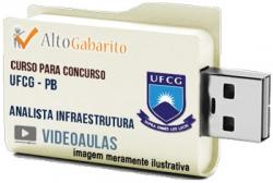 Curso Concurso UFCG – PB – Analista Infraestrutura – Videoaulas Pendrive