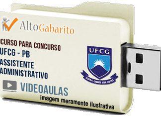 Curso Concurso UFCG – PB – Assistente Administrativo – Videoaulas Pendrive