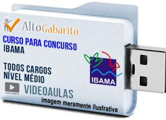 Curso Concurso IBAMA – Todos Cargos – Nível Médio – Videoaulas Pendrive