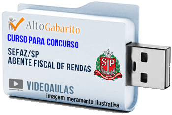 Curso Concurso SEFAZ – SP – Agente Fiscal Rendas – Videoaulas Pendrive