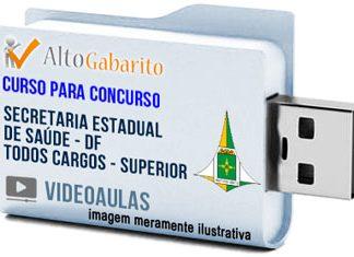 Curso Concurso SES – DF – Todos Cargos – Nível Superior – Videoaulas Pendrive