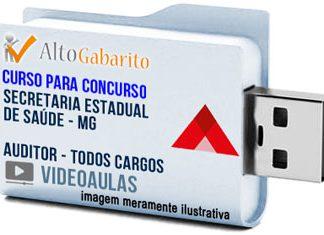 Curso Concurso SES – MG – Auditor – Todos Cargos – Videoaulas Pendrive