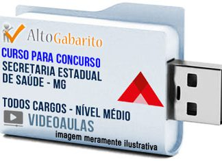 Curso Concurso SES – MG – Todos Cargos – Nível Médio – Videoaulas Pendrive