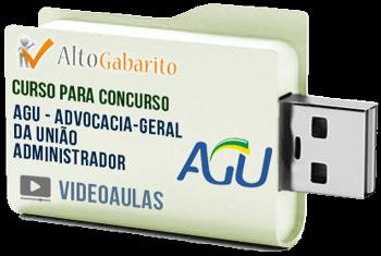 Curso Concurso AGU – Administrador – Videoaulas Pendrive