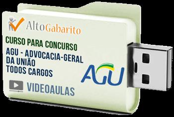 Curso Concurso AGU – Todos Cargos – Videoaulas Pendrive