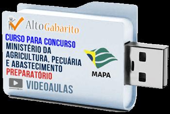 Curso Concurso MAPA – Médio e Superior – Videoaulas Pendrive