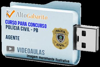 Curso Concurso Polícia Civil – PB – Agente – Videoaulas Pendrive