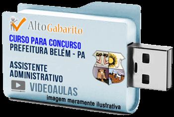 Curso Concurso Prefeitura Belém – PA – Assistente Administrativo – Videoaulas Pendrive